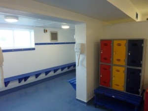Swimming pool changing rooms
